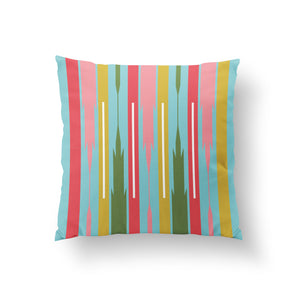 Load image into Gallery viewer, Reunion Cushion - Turquoise Pure Mulberry Silk 50x50cm