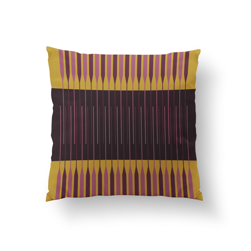 Cloister Cushion - Eggplant Black Pure Mulberry Silk 50x50cm