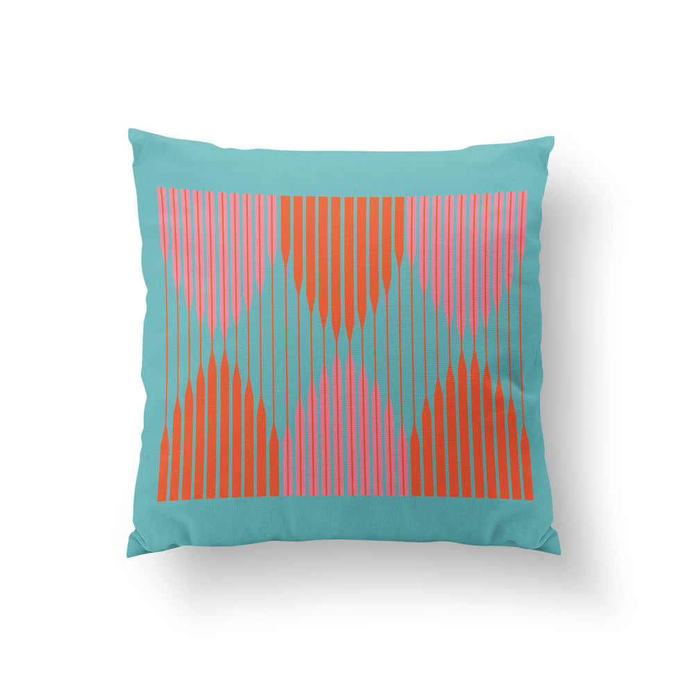 Awning Cushion - Turquoise Pure Mulberry Silk 50x50cm