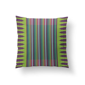 Colonnade Cushion - Leaf Green Pure Mulberry Silk 50x50cm