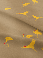 Flying Cranes - Canary Cotton