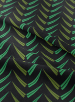 Hedgerow Fabric - Emerald Black Cotton