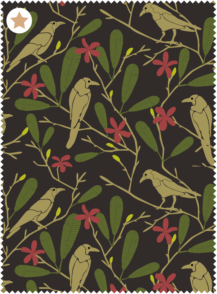 The Crow Fancies Itself a Swan Fabric - Eclipse Cotton
