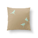 You can't put butter on a Crane's Head Cushion - Mint Pure Silk 45x45cm