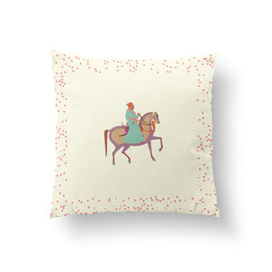 Load image into Gallery viewer, The Marriage of Draupadi Cushion -  Plumeria Ivory Pure Silk 45x45cm