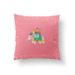 The Marriage of Draupadi Cushion - Blushing Pink Linen 50x50cm
