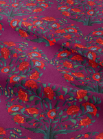 In Full Bloom Fabric - Jewel Plum Cotton Linen