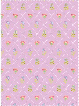 Field of Flowers Fabric - Rooh Afza Pink Cotton