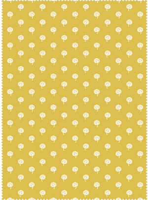 Load image into Gallery viewer, Dandelions Fabric - Bel Mustard Cotton
