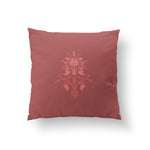 Bouquets Cushion - Rust Madder Pure Silk 45x45cm