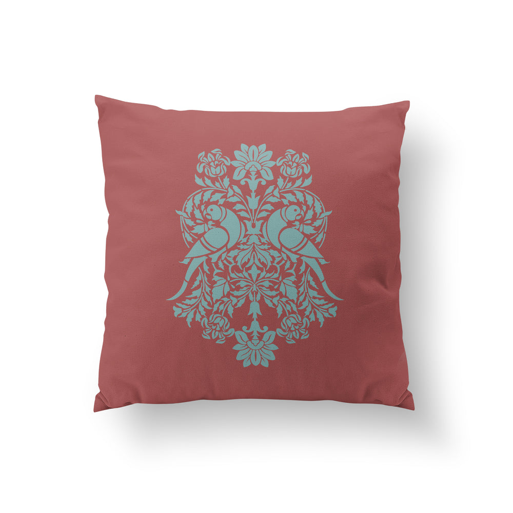 Cornice Cushion - Indian Red Pure Silk 45x45cm