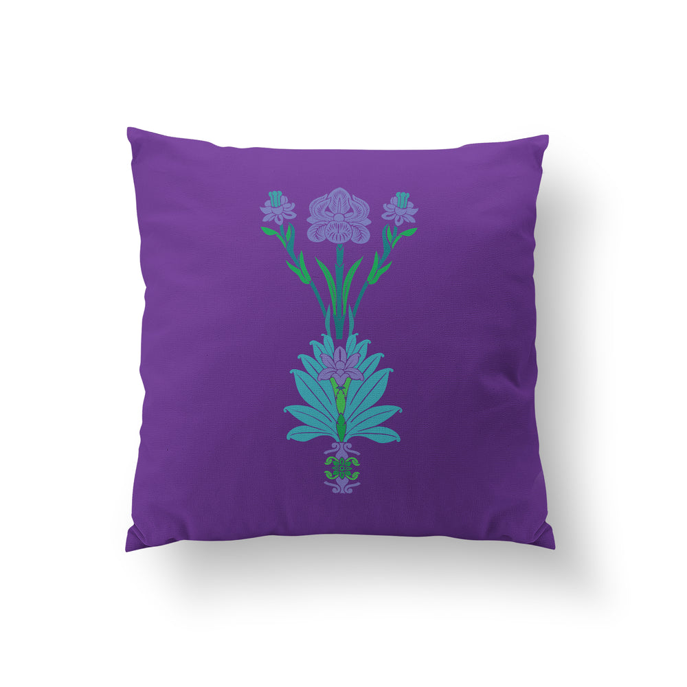 Arches Cushion - Royal Purple Pure Silk 45x45cm