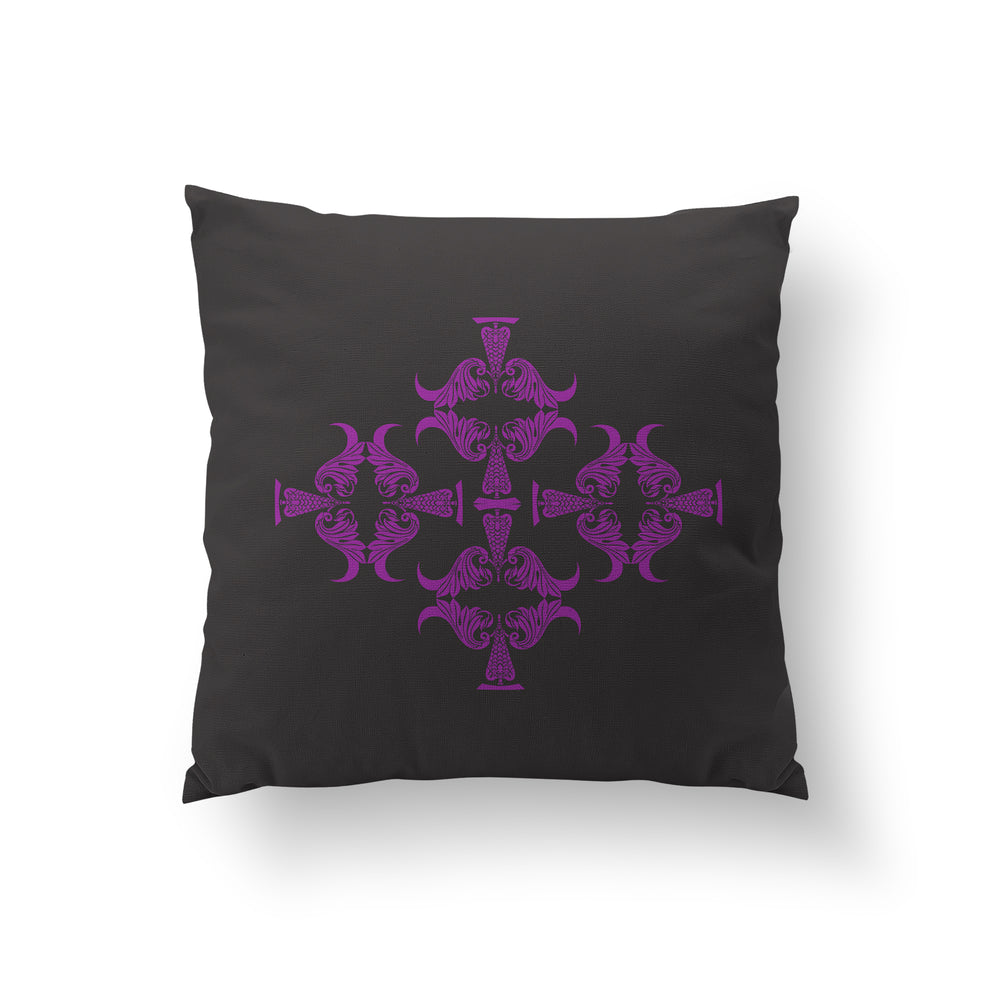 Pedestals Cushion - Heavenly Violet Pure Silk 45x45cm