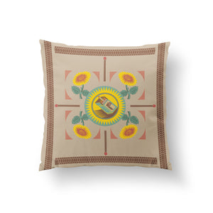 Le Ventilateur Cushion - Buff Cotton 50x50cm