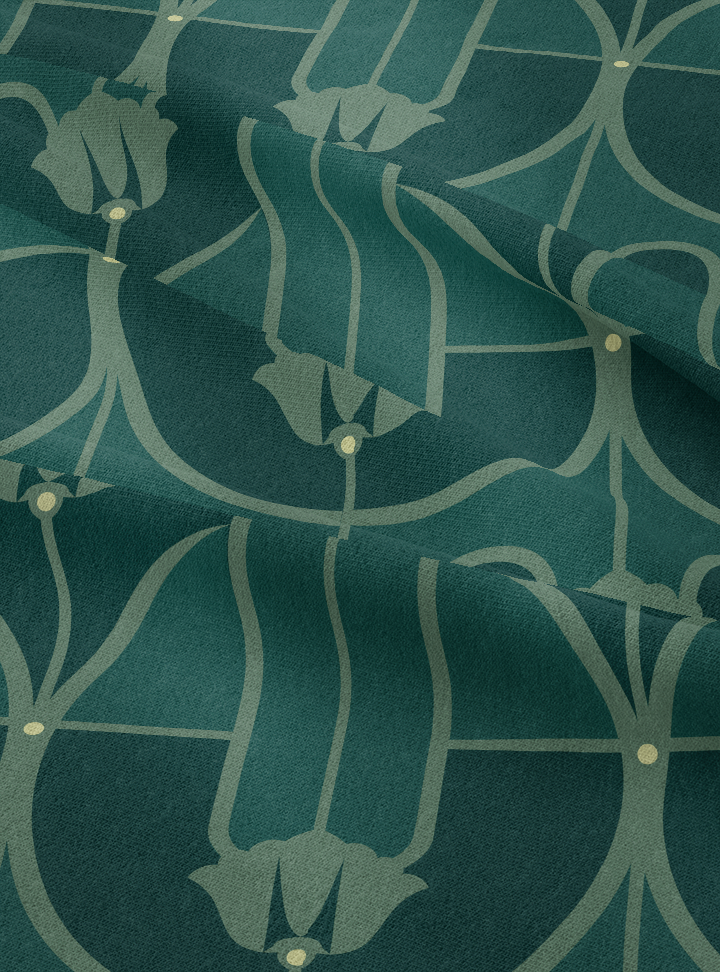 My Beloved Fabric - Dark Green Cotton Linen