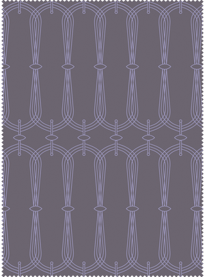Load image into Gallery viewer, Candelabra Fabric - Twilight Grey Cotton