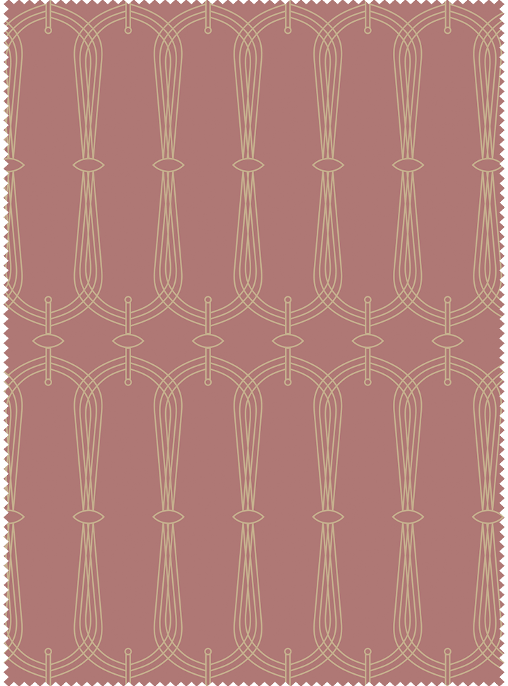 Candelabra Fabric - Deep Salmon Cotton