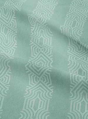 Load image into Gallery viewer, Dhanraj Mahal Stripe Fabric - Soft Mint Cotton