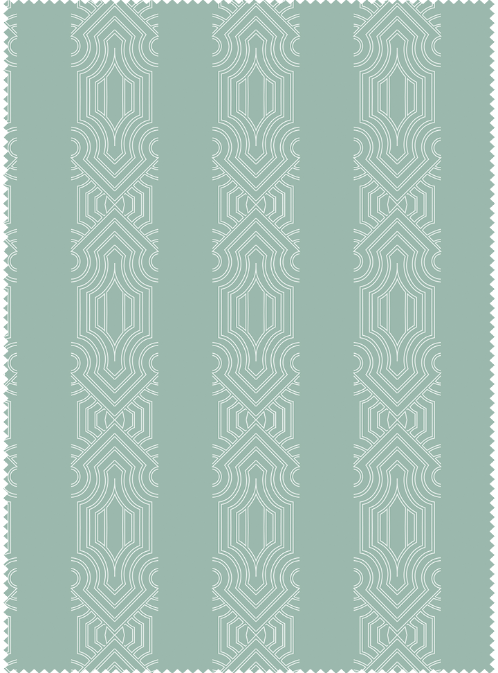 Dhanraj Mahal Stripe Fabric - Soft Mint Cotton
