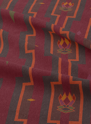 Load image into Gallery viewer, Electric House Fabric - Merlot Cotton Linen