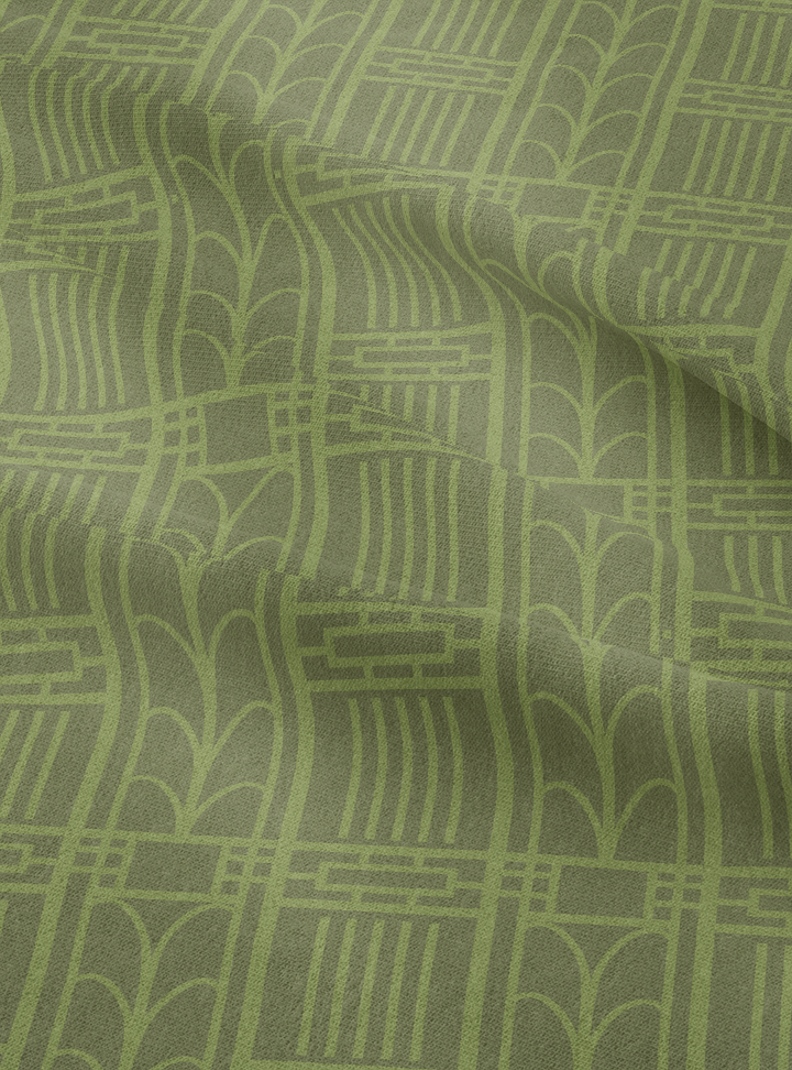 Dwelling Fabric - Fresh Olive Cotton Linen