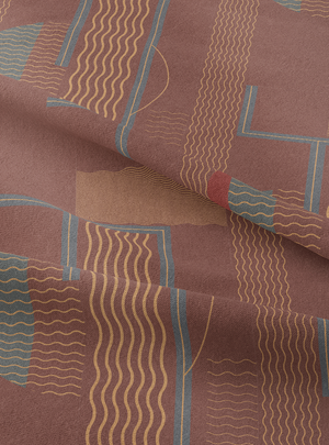 Moon Shadow Fabric - Loamy Brown Cotton Linen