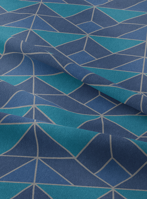 Marine Drive Fabric - Turquoise Cotton