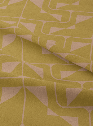 Load image into Gallery viewer, Indo-Deco Fabric - Pale Olive Cotton