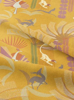 Load image into Gallery viewer, Bandar Log - Cheeky Yellow Cotton Linen
