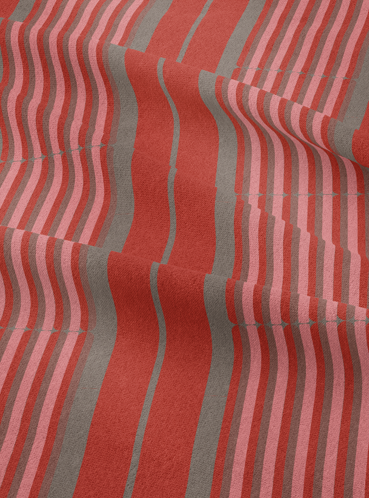 Column Fabric - Red Dust Cotton
