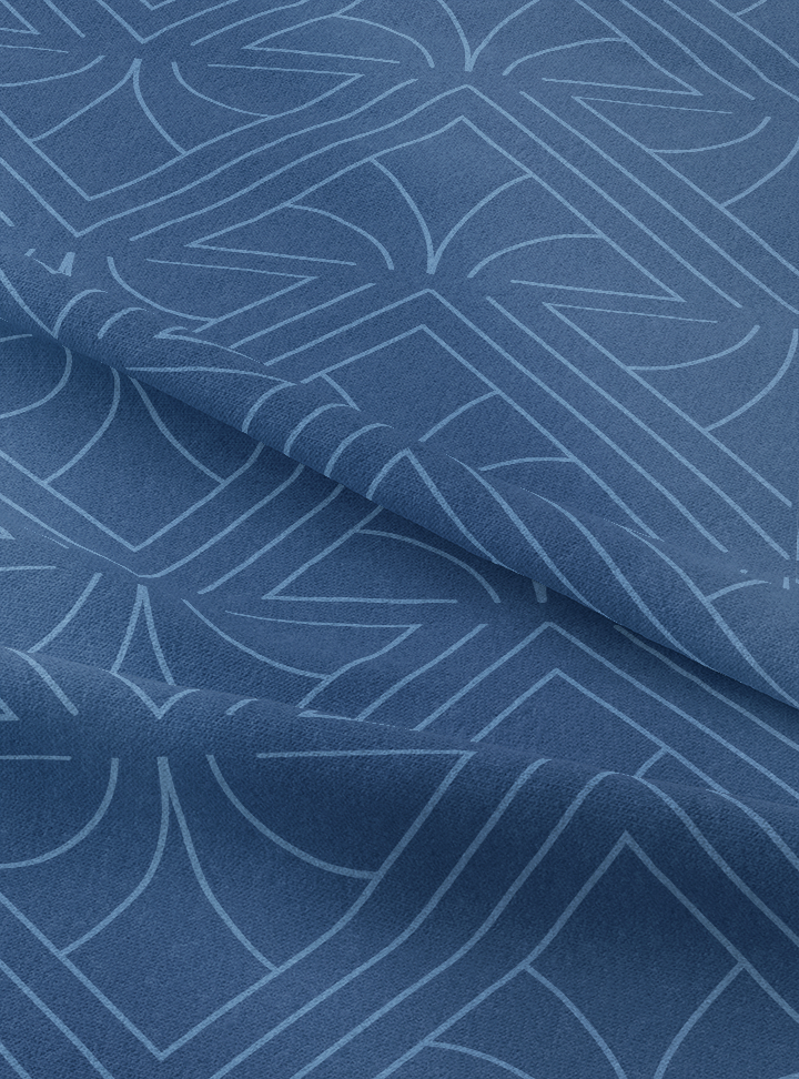 Regal Fabric - Alert Blue Cotton