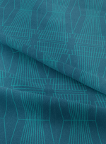 Ziggurat Fabric - Fluorite Blue Cotton