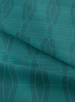 Ziggurat Fabric - Emerald Green Cotton