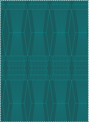 Load image into Gallery viewer, Ziggurat Fabric - Emerald Green Cotton