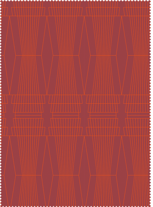 Load image into Gallery viewer, Ziggurat Fabric - Agate Red Cotton