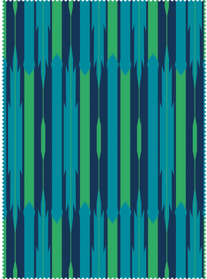 Load image into Gallery viewer, Seven Seas Fabric - Peacock Blue Cotton