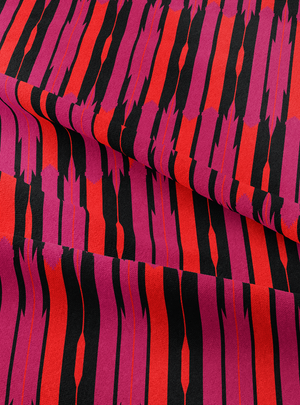 Seven Seas Fabric - Rich Magenta Cotton