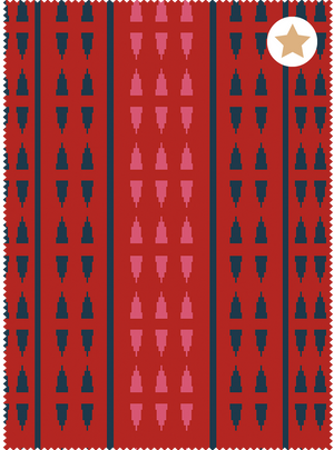 Load image into Gallery viewer, Seven Seas Fabric - Naga Chilli Red