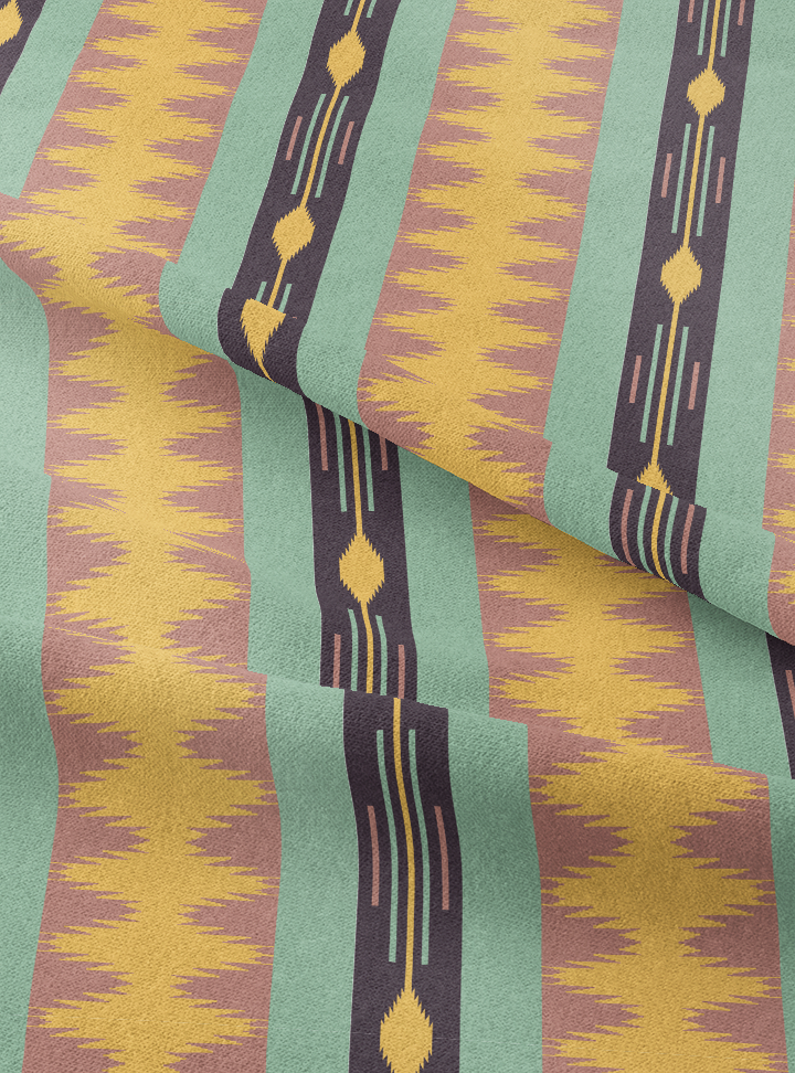 Seven Seas Fabric - Jade Brown Cotton