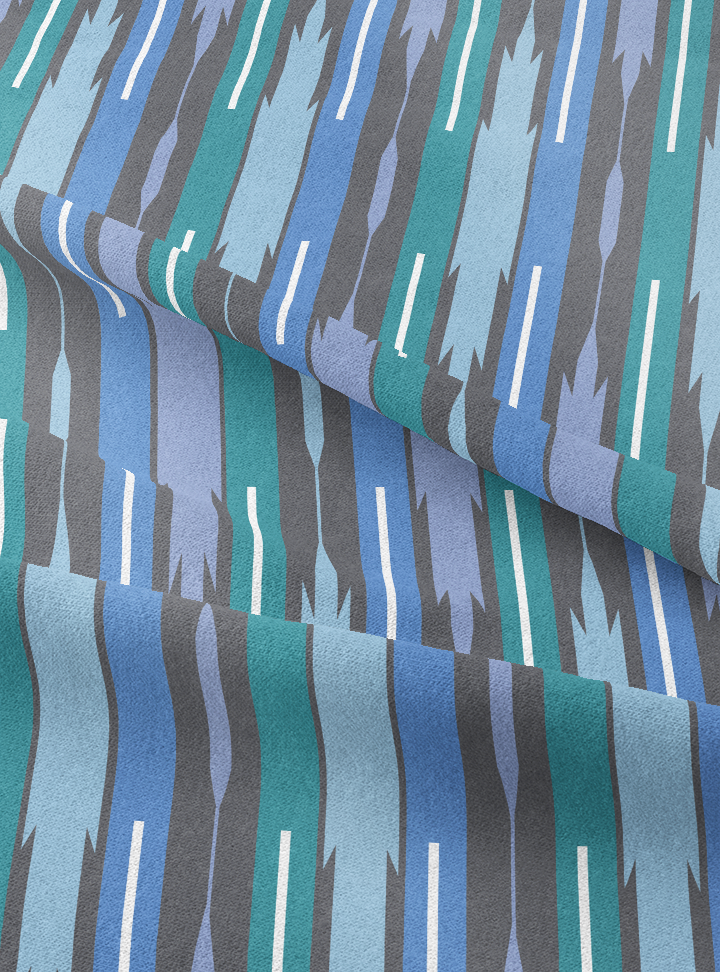 Seven Seas Fabric - Atlantic Blue Cotton