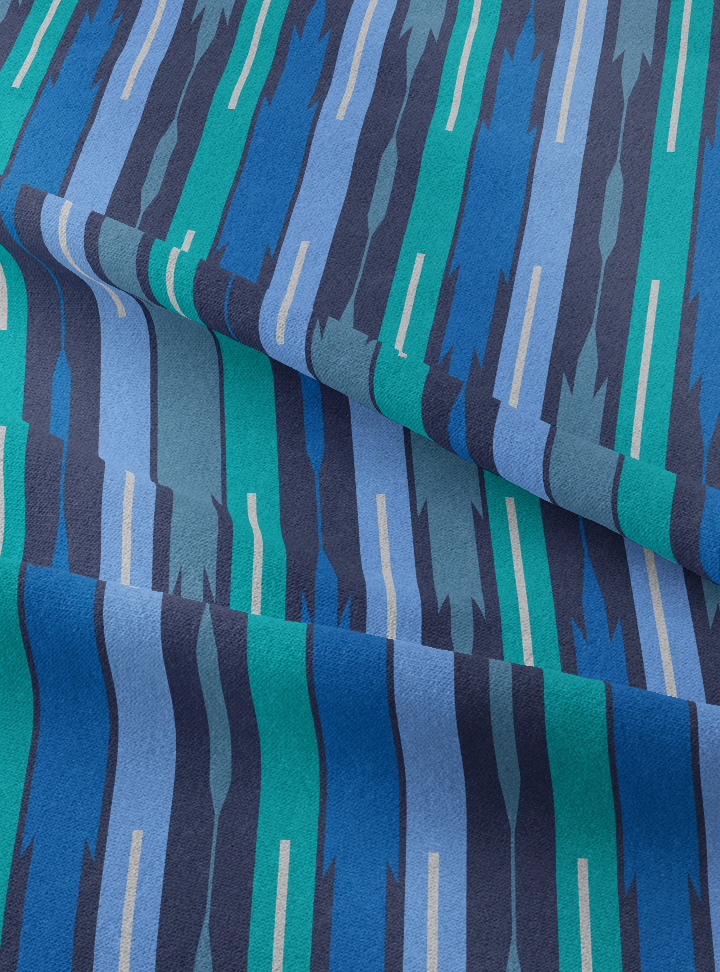 Seven Seas Fabric - Royal Blue Cotton