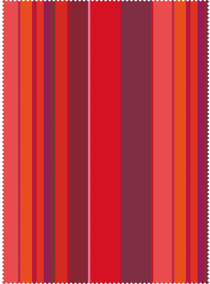 Musical Stripes Fabric - Sunset Cotton
