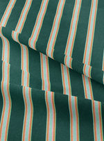 Musical Stripes Fabric - Dhurrie Green Cotton