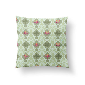 Load image into Gallery viewer, Lattice Cushion - Tender Pistachio Pure Silk 45x45cm