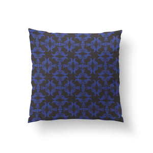 Pedestals Cushion - Victory Blue Pure Silk 45x45cm