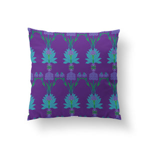 Load image into Gallery viewer, Arches Cushion - Royal Purple Linen 50x50cm