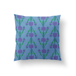 Load image into Gallery viewer, Garlands Cushion - Ethereal Blue Linen 50x50cm
