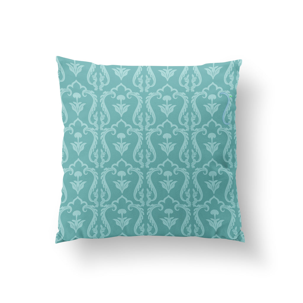 Lattice Ice Turquoise - PURE SILK