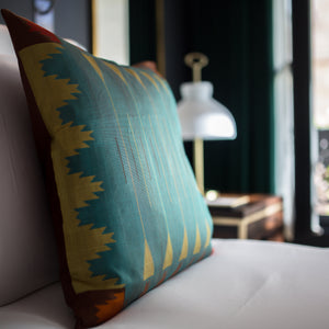 Load image into Gallery viewer, Sanctum Cushion - Mint Green Pure Mulberry Silk 50x50cm