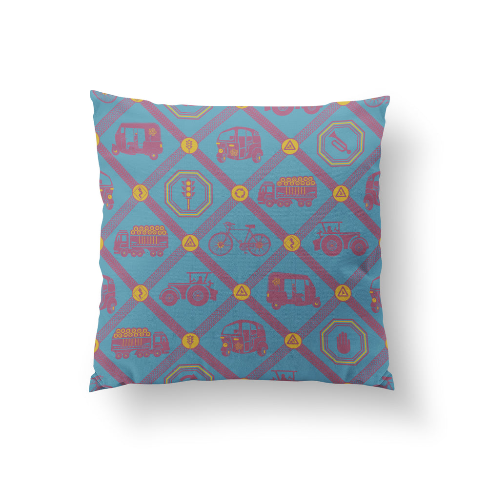 Load image into Gallery viewer, Upwardly Mobile Cushion - Cerulean Cotton 50x50cm